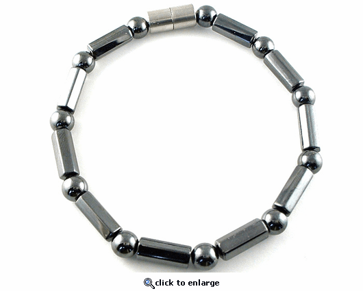 Hematite Magnetic Therapy Anklet Polygons