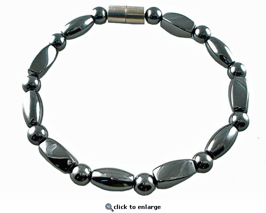 Hematite Magnetic Therapy Bracelet Rice Twister