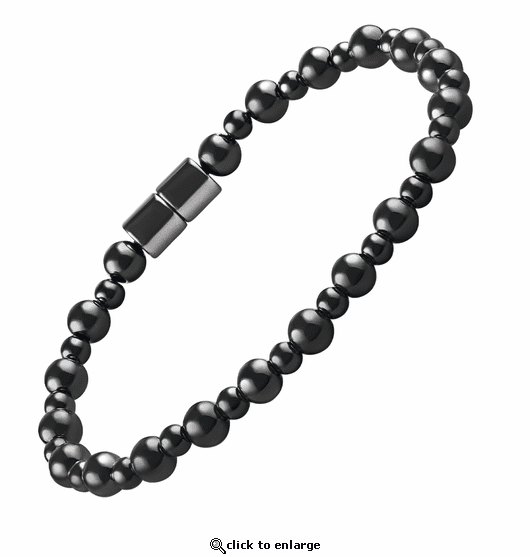 Hematite Magnetic Therapy Bracelet Rounders