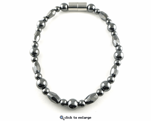 Hematite Magnetic Therapy Bracelet Trey Marquise