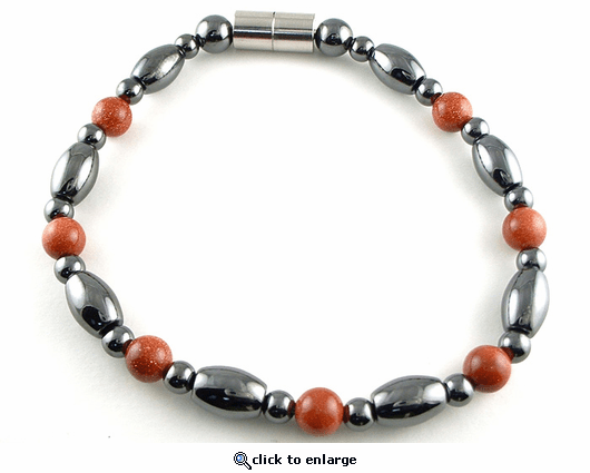 Hematite Magnetic Therapy Necklace Goldstone Venus