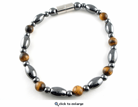 Hematite Magnetic Therapy Bracelet Tiger Eye Venus