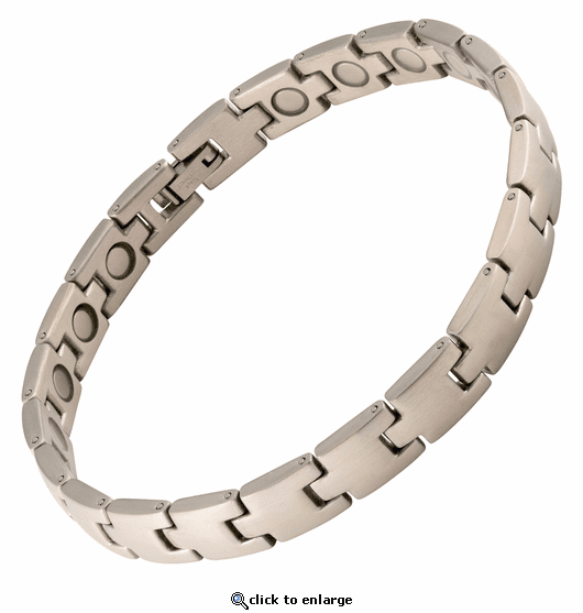 Magnetic Therapy Bracelet Stainless Steel Stepping Stones