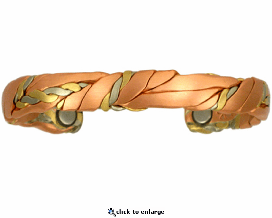 Sergio Lub Copper Magnetic Therapy Bracelet Brushed Sage 568