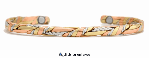 Sergio Lub Copper Magnetic Therapy Bracelet Litte Sage 703