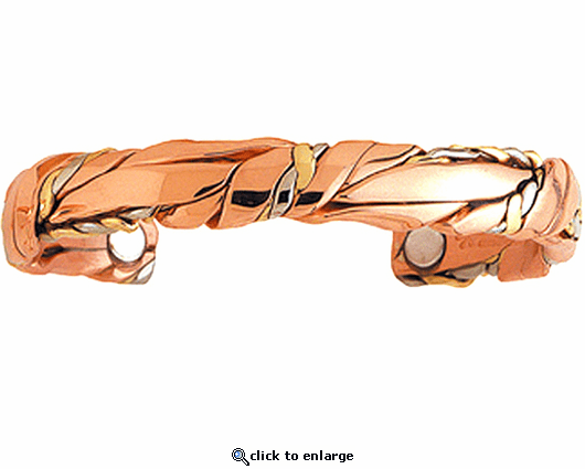 Sergio Lub Copper Magnetic Therapy Bracelet Sage 768