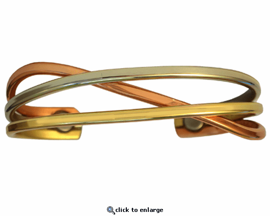 Sergio Lub Copper Magnetic Therapy Bracelet Swirl 843