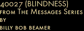 40027 (BLINDNESS) from The Messages Series by billy bob beamer