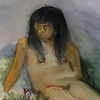 NUDE GIRL WITH FLOWERS