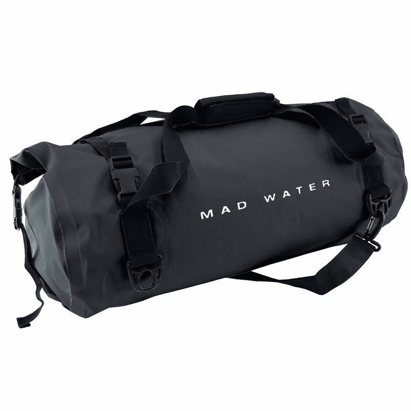 30L Roll-Top Waterproof Duffel - Black