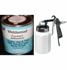 1 Gal. DAP Weldwood HHR Contact Cement and Eze Spray Gun