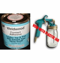 1 Gal. DAP Weldwood HHR Contact Cement and K-Grip Spray Gun TEMPORARILY OUT OF STOCK