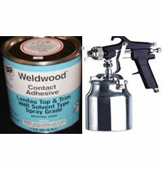 1 Gal. DAP Weldwood HHR Contact Cement and Professional Spray Gun