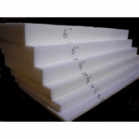 """50-Pound Upholstery Foam/Commercial Seating Grade 4"""" x 25"""" x 106"""" Free Shipping"""