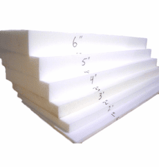 "6""X26""X82"" Loaded (MEDIUM FIRM) Half Foam Sheet"