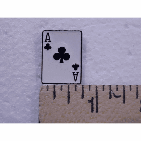 Ace Of Clubs Black Suited Nail Head