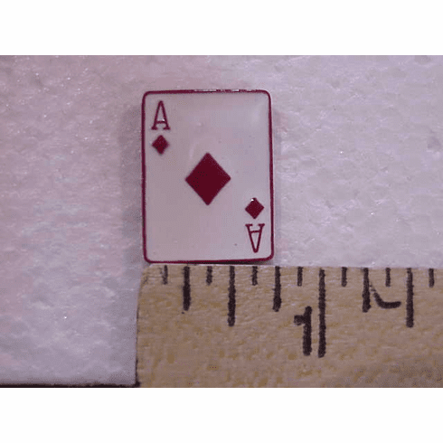 Ace Of Diamonds Red Suited Nail Head