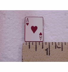 Ace Of Hearts Red Suited Nail Head
