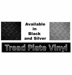Black Tread Plate Marine Flooring 63""