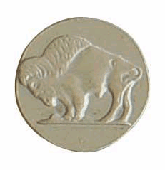 Buffalo Nickel Decorative Nail Head (Individual)