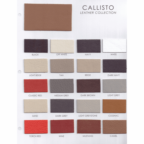 Callisto Leather Collection Sample Card