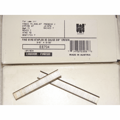 "Fasco 3/8"" x 5/32"" Liquor Staples"