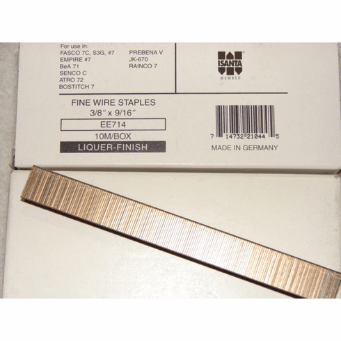 "Fasco 3/8"" x 9/16"" Liquor Staples"