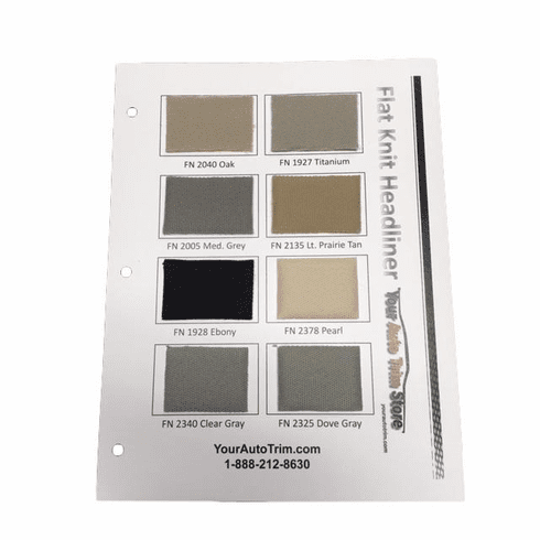 Flat Knit Headliner Sample Card TEMPORARILY OUT OF STOCK