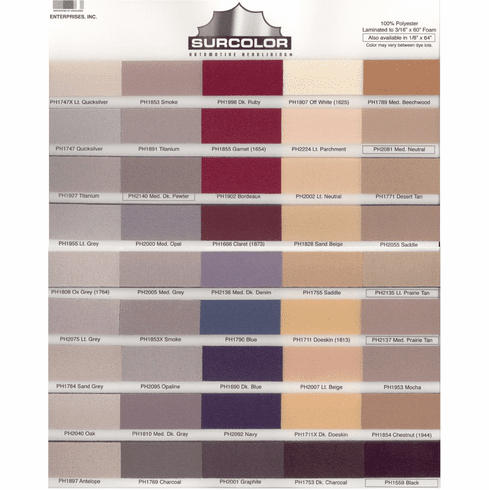 Headliner Kit 180 inches by 60 inches Headliner Fabric and Four Cans Adhesive