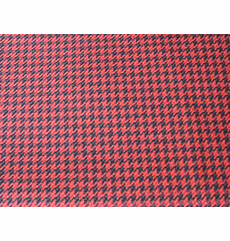 Houndstooth Black/Red