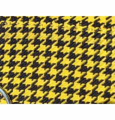 Houndstooth Black/Yellow