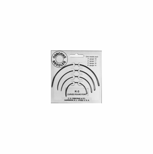 K-3 Assorted Curved Round Point Needle Pack
