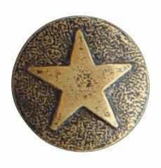 "LARGE ""Bronze"" Star Medallion Decorative Nail Head (Individual)"