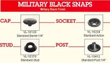 Military Black Snap Fasteners