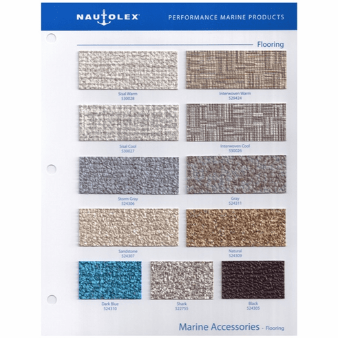 Nautolex Marine Vinyl Flooring Sample Card