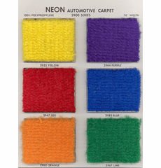 Neon Automotive Carpet (Being Discontinued by Manufacturer)