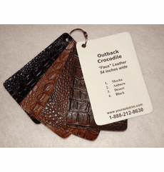 Outback Crocodile Faux Leather
