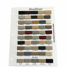 Purchase a Automotive Headliner Sample Card