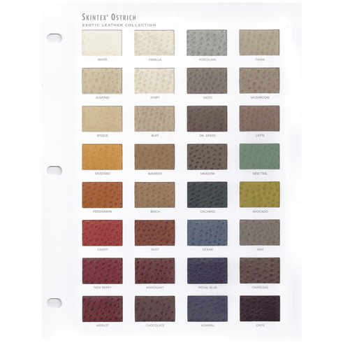 Purchase A Ostrich Faux Leather Chart
