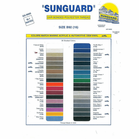 Purchase A Printed Sunguard Thread Chart