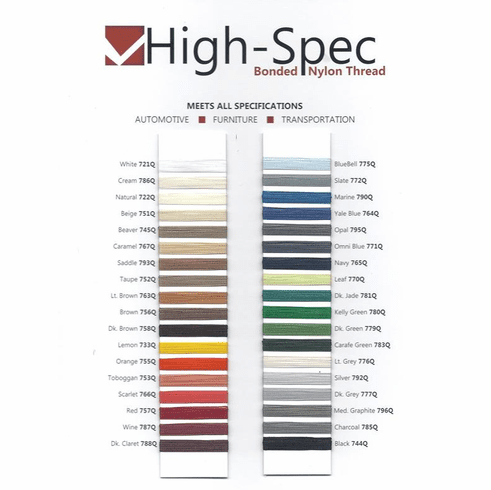 Purchase A Real Thread High-Spec Thread Chart