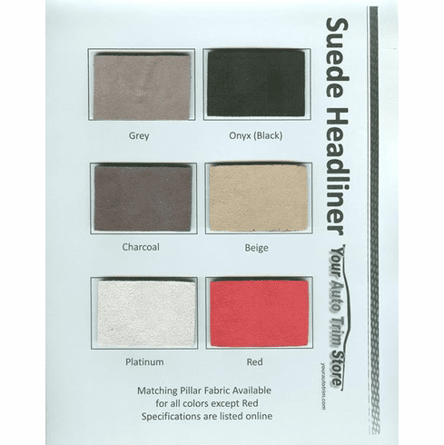 Purchase A Suede Headliner Chart