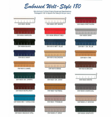 Purchase An Embossed Welt Cord Chart