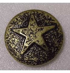 "SMALL  ""Bronze"" Star Medallion Decorative Nail Head (Individual)"
