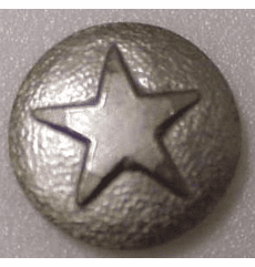 "SMALL  ""Nickel"" Star Medallion Decorative Nail Head (Individual)"