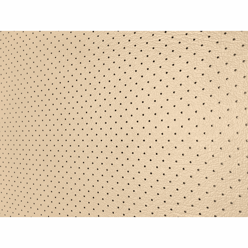 Soft Seat Automotive Perforated Upholstery Vinyl Light Cashmere