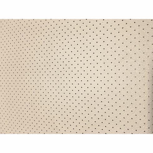 Soft Seat Automotive Perforated Upholstery Vinyl Light Neutral