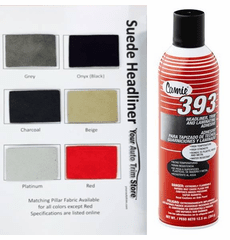 Suede Headliner Kit 108 inches by 60 inches Headliner Fabric and Two Cans Adhesive