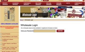 Password-protected Wholesale Area for Yahoo Stores - Click to enlarge