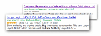 Structured Data Markup (JSON-LD) for Yahoo! Stores - Click to enlarge